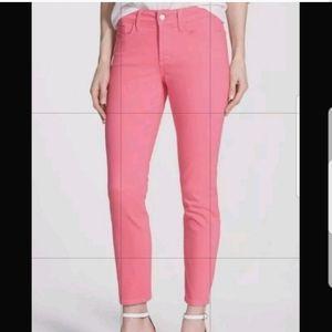 NYDJ bubblegum pink Clarissa Ankle jeans 0
